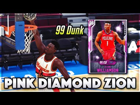 *NEW* PINK DIAMOND ZION WILLIAMSON HAS A 99 DUNK & RANGE EXTENDER!! | Worth It In NBA 2k20 MyTEAM??