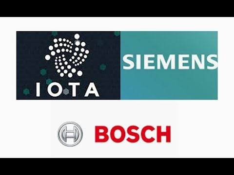 IOTA used in patents for 44 companies! BOSCH and Siemens plan to develop on IOTA