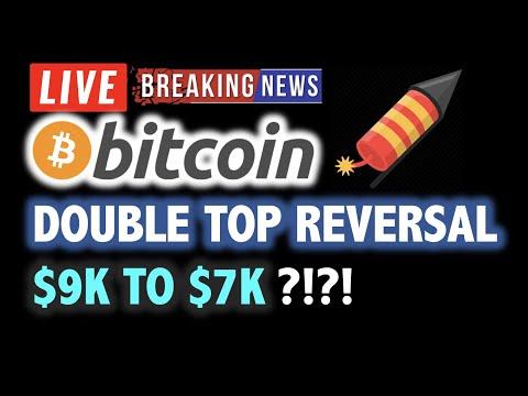 BITCOIN DOUBLE TOP REVERSAL WARNING?! 💥❗️LIVE Crypto Analysis TA & BTC Cryptocurrency Price News