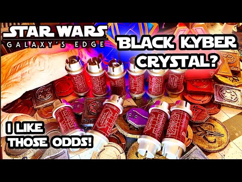 Black Kyber Crystal | How rare are they? | Star Wars Galaxy's Edge Opening 10 Red Kyber Cannisters!