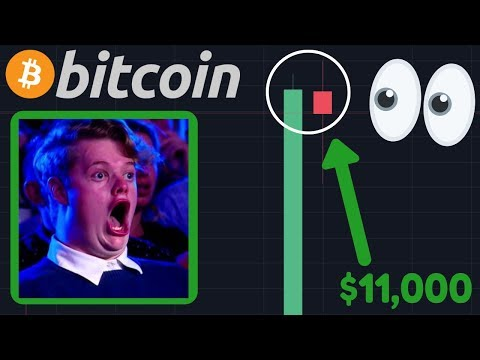 OMG WTF!!! BITCOIN INSANE GREEN CANDLE!! | $11,000 IS THE BTC TARGET?!!