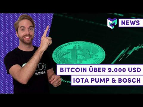 Bitcoin Kurs über 9.000 USD – Wie geht es weiter? | IOTA Pump & Bosch | Cardano hilft der EU