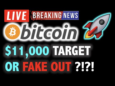 BITCOIN TARGET IS $11K? 😱 OR FAKE OUT?!💥LIVE Crypto Analysis TA & BTC Cryptocurrency Price News