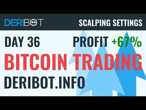 Day37: +67% Profit. Bitcoin Live Trading With Crypto Trading Robot DeriBot on Deribit.