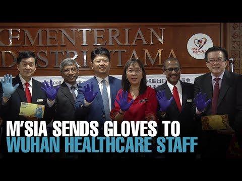 NEWS: M'sia donates 18mil gloves to China