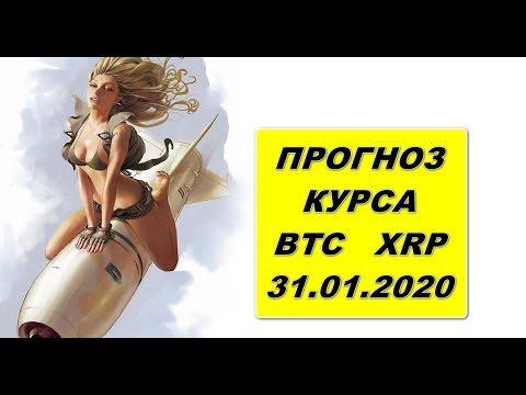 Прогноз курса криптовалют BTC(bitcoin, биткоин), XRP(Ripple) 31.01.2020