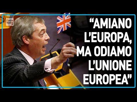 """L'ADDIO DI FARAGE ALLA UE: """"Brexit spero sia l'inizio della fine di questo progetto non democratico"""""""