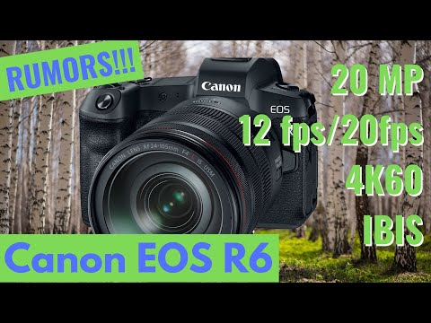 Canon Eos R6 full frame camera. Watch this for more details