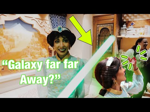 I SHOWED JASMINE MY LIGHTSABER & KYBER CRYSTAL IN DISNEY – This Is What Happened