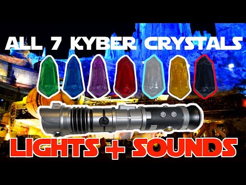 All 7 Kyber Crystals in a Galaxy's Edge Lightsaber LIGHTS+ SOUNDS