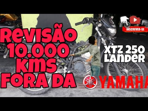 XTZ 250 LANDER ABS. Revisão 10.000 KMS, Fora da yamaha