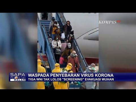 """Ada 3 WNI Tak Lolos """"Screening"""" Evakuasi Corona Wuhan"""