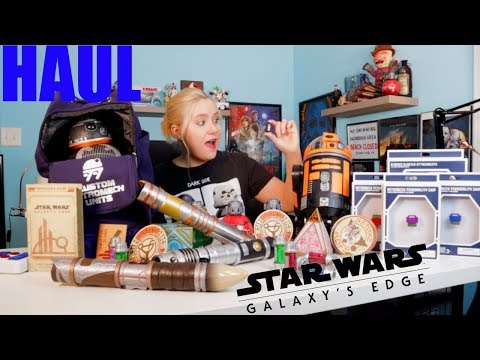 Star Wars Galaxy's Edge Haul *I GOT THE BLACK KYBER CRYSTAL!!!*