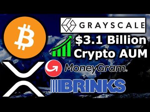 Early Adopters CRYPTO WEALTH – Grayscale $3.1B AUM – MoneyGram Brinks Ripple XRP – Ethereum DeFi $1B