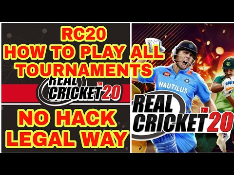Real Cricket 20™ How To Play All Tournaments & How To Get Tickets/Coins With Legal Way || NO HACK ||