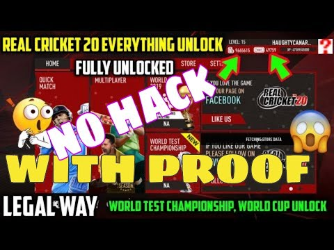 Real Cricket™20 Everything Unlocked Tournaments/Coins/Tickets Unlimited Legal Way || NO HACK ||