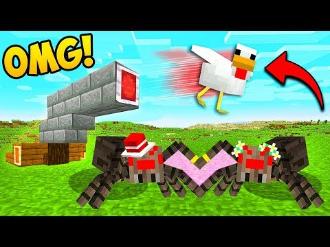 *INSANE* CHICKEN CANNON + SPIDER MARRIAGE!! – Minecraft Funny Moments and Fails! | BCC Plus