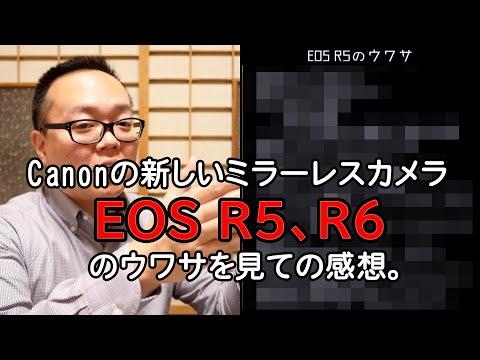 【雑談】Canonの新しいミラーレスカメラEOS R5とR6のウワサを見ての感想。
