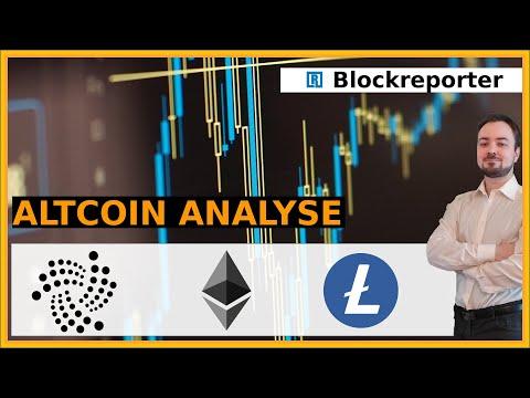 Der Cryptomarkt ist unruhig. Was machen Ethereum, IOTA und Litecoin?