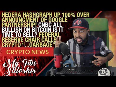Daily Crypto News: Hedera Hashgraph Soars 100% From Google Partnership | CNBC Now Bullish on Bitcoin