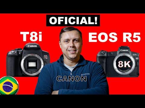 Canon T8i & EOS R5 – Novas cameras da Canon!