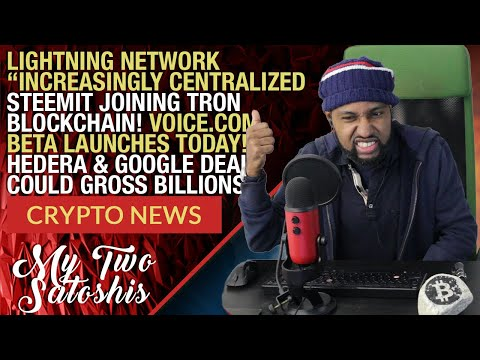Daily Crypto News: HBAR/Google Deal To Gross $1.9 Bln | Steemit Joins Tron | Voice.com Beta Live!
