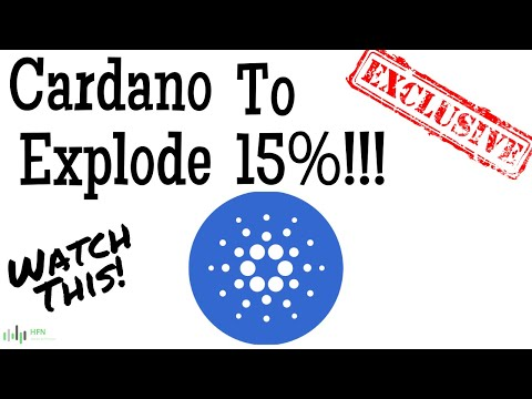 WATCH THIS!!! CARDANO (ADA) TO EXPLODE ANOTHER 15%
