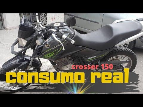 XTZ crosser 150 Consumo real ate agora da moto
