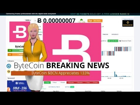 Cryptocurrency ByteCoin $BCN Rose 133% In the Last 24 Hours