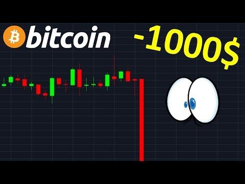 BITCOIN -1000$ EN 1 HEURE, QU'EN PENSER !? btc analyse technique crypto monnaie