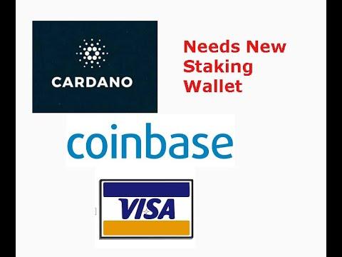 Cardano new Staking wallet, Coinbase becomes VISA principle partner, livestream recap