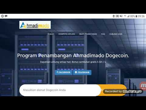 2 project ahmadimado clound mining BTC dan dogecoin 1000% Legit
