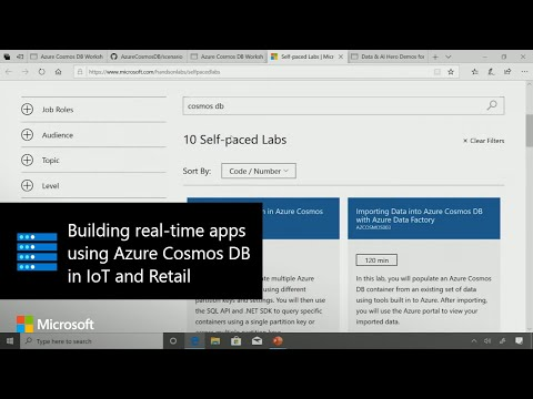 Building real-time apps using Azure Cosmos DB in IoT and Retail
