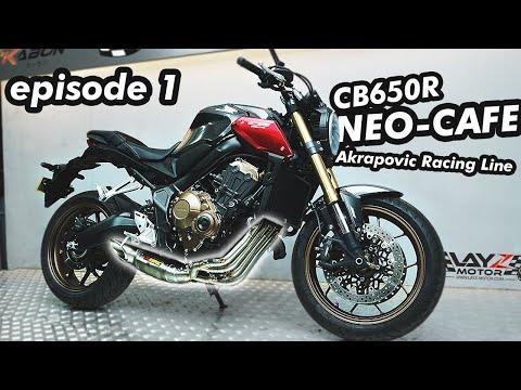 Honda CB650R Neo Sport Cafe Jajan lucu Akrapovic Full System! Suaranya Ngebass banget!! Episode 1