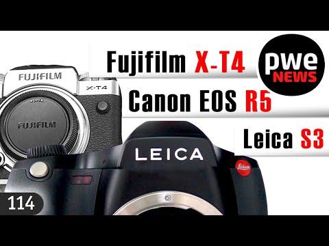 PWE News #114 | Canon EOS R5 – до Олимпиады | среднеформатная  Leica S3 | Fujifilm X-T4
