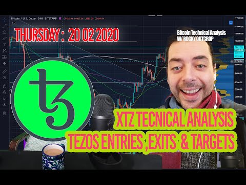 Tezos (XTZ) Friday Feb 21st Technical Analysis (T.A) with Rocky Outcrop – entries, exits, targets.
