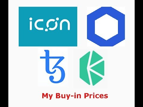 XTZ, Chainlink,ICX,KNC, my buy-in prices and why IOTA has not dumped yet