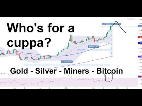 Gold – Silver – Miners – Bitcoin, 23 Feb 2020