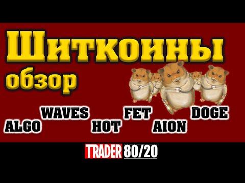Альткоины обзор (ALGO, WAVES, HOT, DOGE, FET, AION)