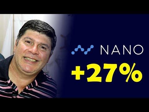 Criptomoeda Nano Sobe 27% Após Ser Listada em Grande Corretora