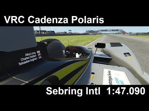 Assetto Corsa: VRC Cadenza Polaris @ Sebring 1:47.090