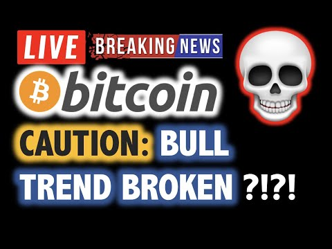 BITCOIN Bull Trend BROKEN ?! DUMP TO $8K ?!❗️LIVE Crypto Analysis TA & BTC Cryptocurrency Price News