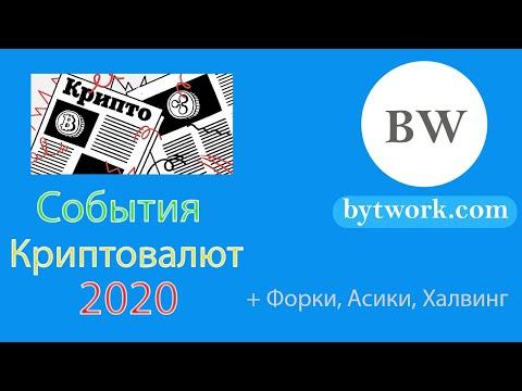 События криптовалют 2020: Хард Форки, Новые Асики, Халвинги, BTC, ZEC