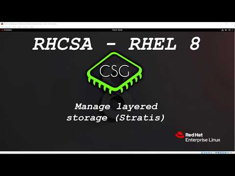 RHCSA RHEL 8 – Manage Layered Storage (Stratis)