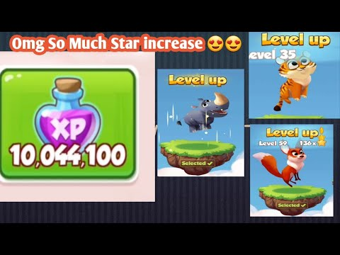 Omg How Much Star Increase on 10 Million Pet Xp In Coin Master