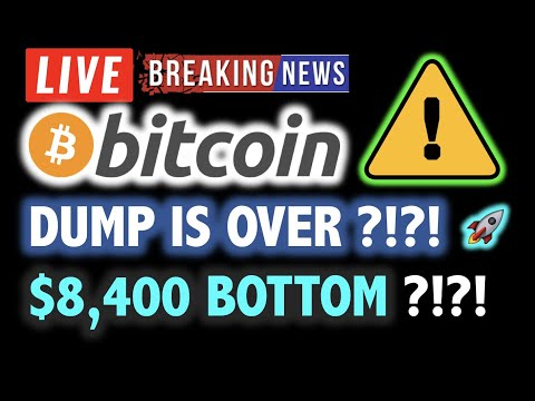 BITCOIN $8,400 is NEW BOTTOM? Dump is Over?❗️LIVE Crypto Analysis TA & BTC Cryptocurrency Price News