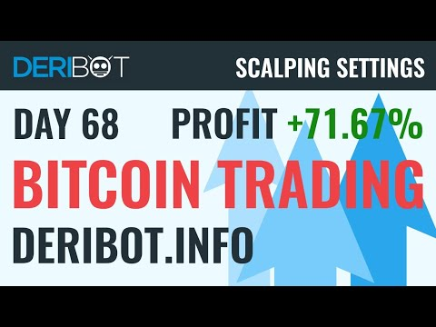 Day68: +71.67% in BTC. Bitcoin Live Trading With Crypto Trading Robot DeriBot on Deribit.