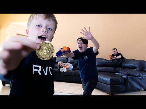 The Coin Heist! Ethan and Cole Nerf Battle Vs Parents In Real Life