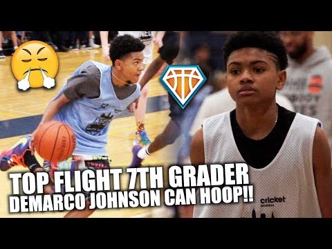 TOP RANKED 7TH GRADER DeMarco Johnson is a SAVAGE!! | NEO Youth Elite Highlights