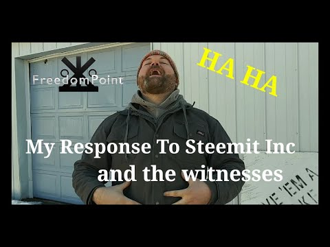My Response To Steemit Inc. And the witnesses 3/2/2020